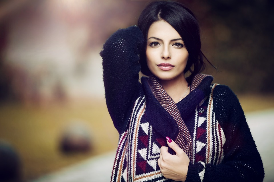 Woman, Portrait, Model, Knitwear, Knitted, Young Woman