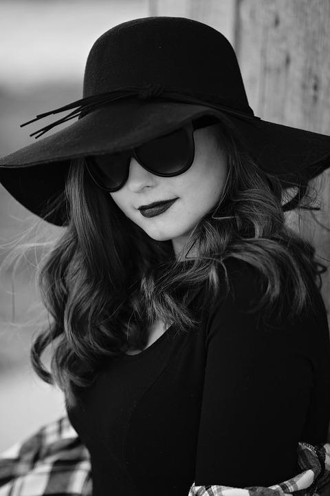 Black And White, Portrait, Woman, Young, Woman Portrait