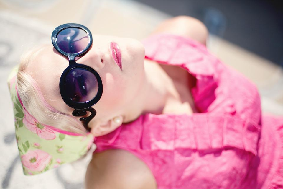 Summer, Young Woman, Pretty, Sunglasses, Sunshine