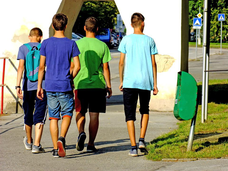 Boys, Youth, Teenagers, Group, Young, Friends, Summer