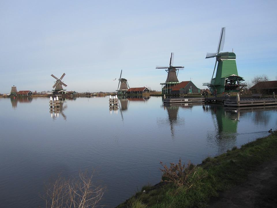 Zaandam, Mills, Zaanse Schans, View, Landscape
