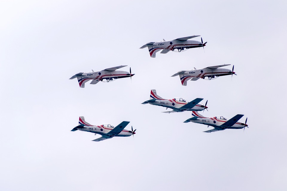 Croatia, Zadar, Acrobatic, Flying