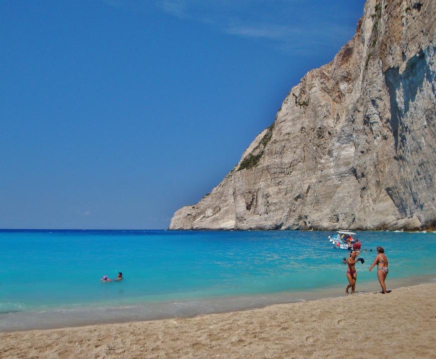 Zakynthos, Island, Beach, Sand, Rocks, Sea, Holidays