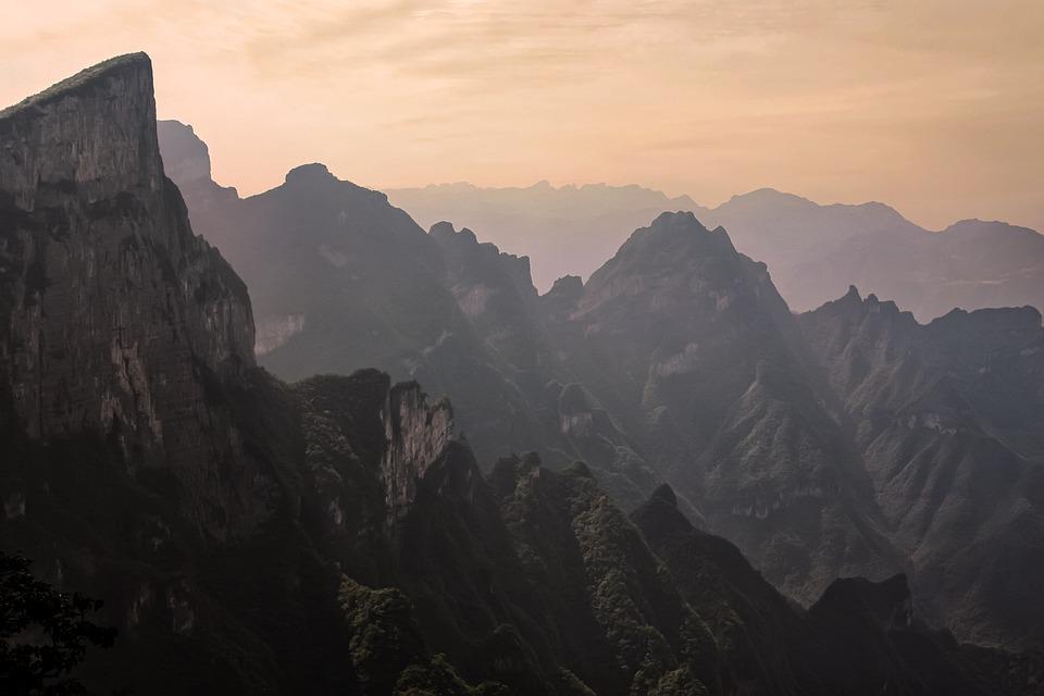 Mountains, Landscape, Zhangjiajie, Zando, Gorge, Summit