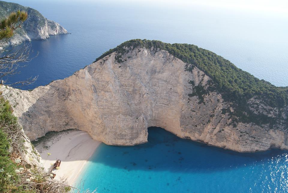 Shipwreck, Zante, Beach, Zakynthos, Navagio, Cliff