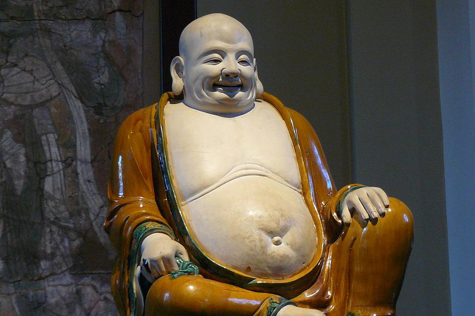 Buddha, Asia, Zen, Statue, Belly, Religion