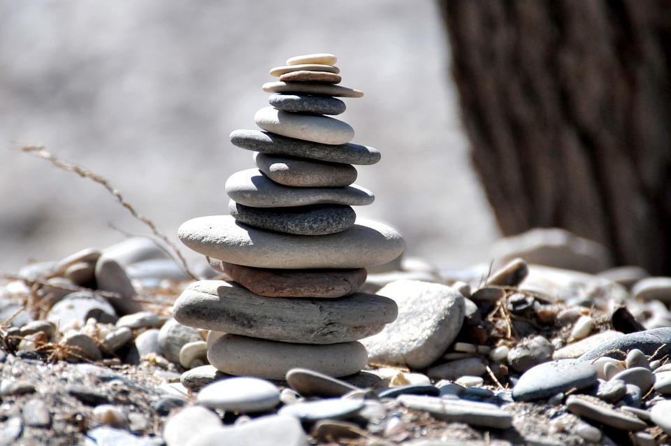 Beach, Stones, Samos, Balance, Cairn, Zen