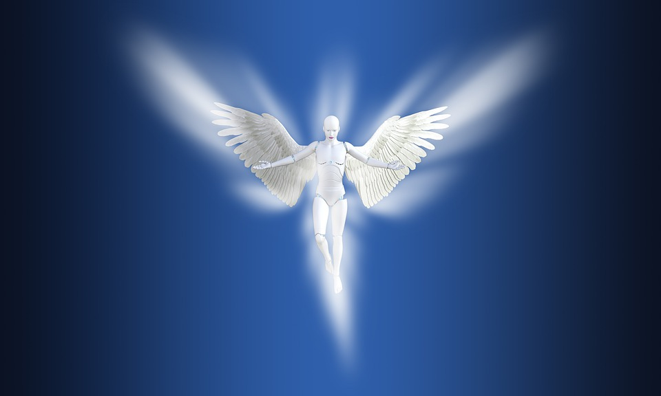 Angel, Spiritual, Peaceful, Zen, Blue Angel