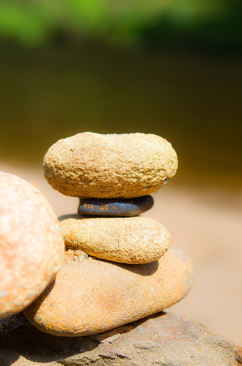 Stones, Stacked, Balance, Zen, Spa, Pebble, Tranquil