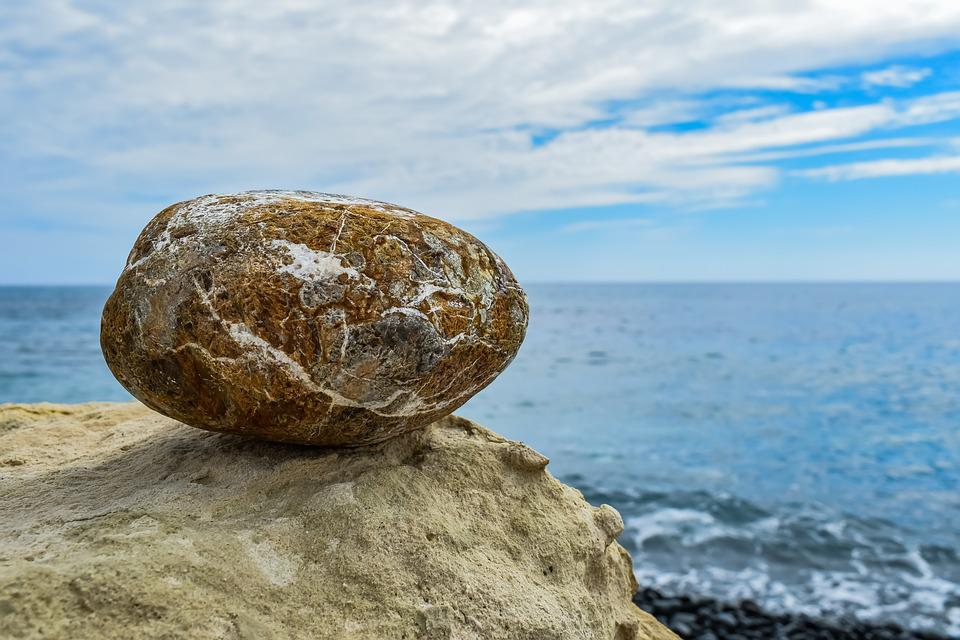 Stone, Sea, Nature, Rock, Water, Seashore, Balance, Zen