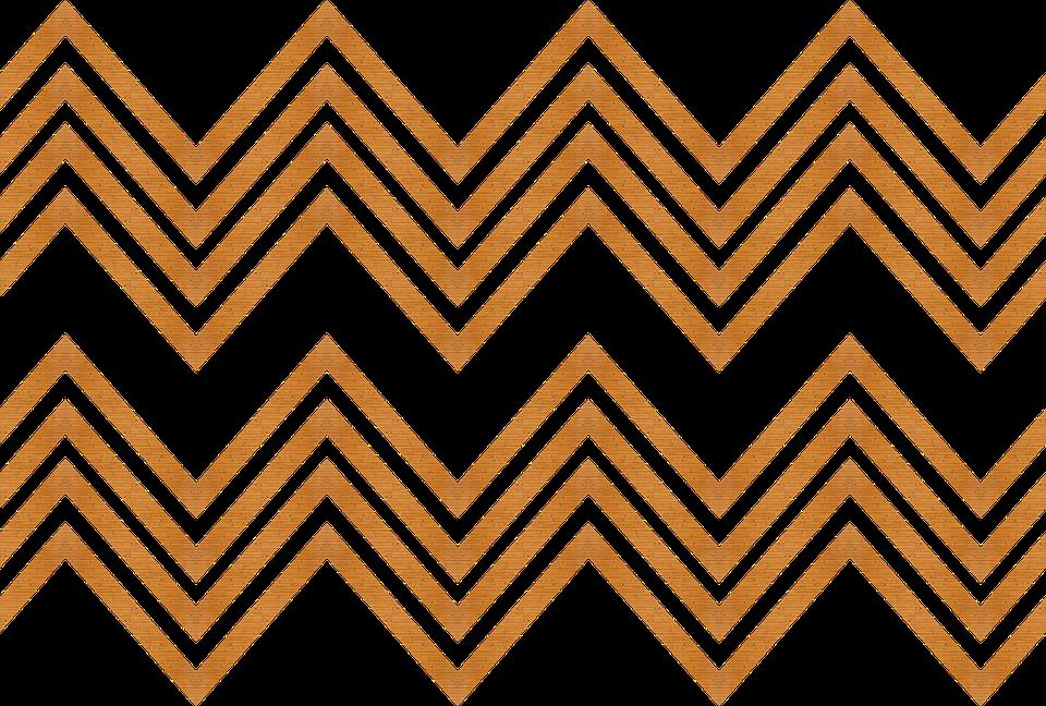 Wood, Trim, Zigzag, Design, Decorative, Decoration