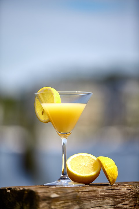 Cocktail, Sums, Summer, Zitrone, Lemon