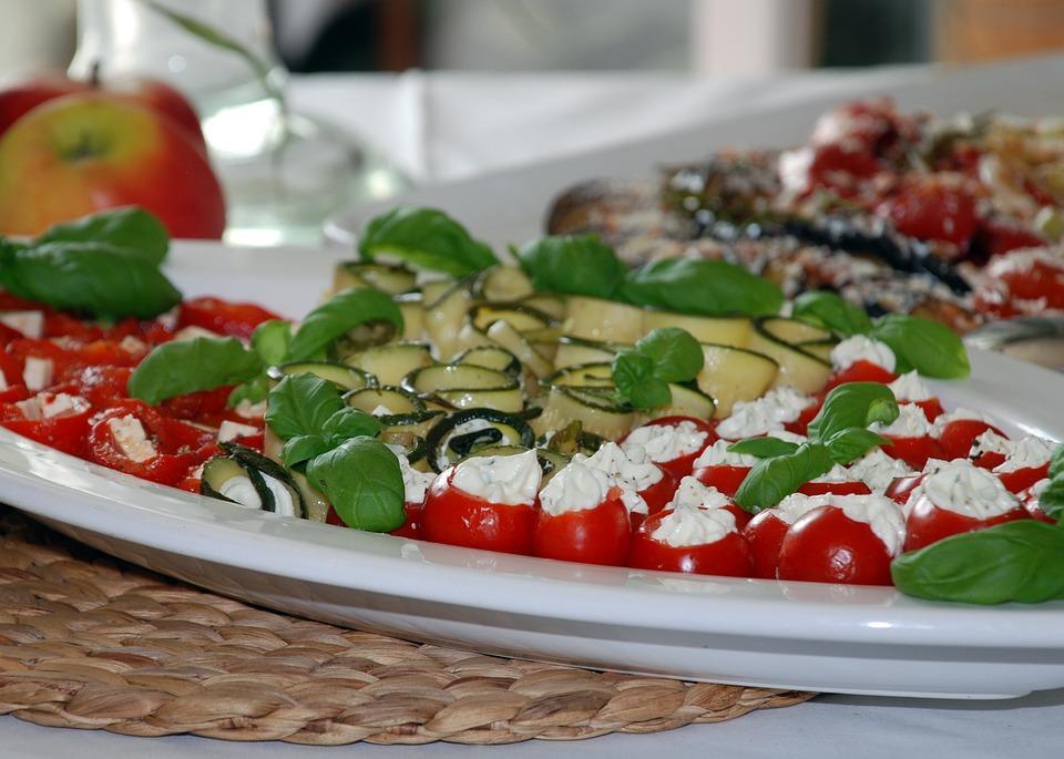 Antipasti, Vegetables, Zucchini, Basil
