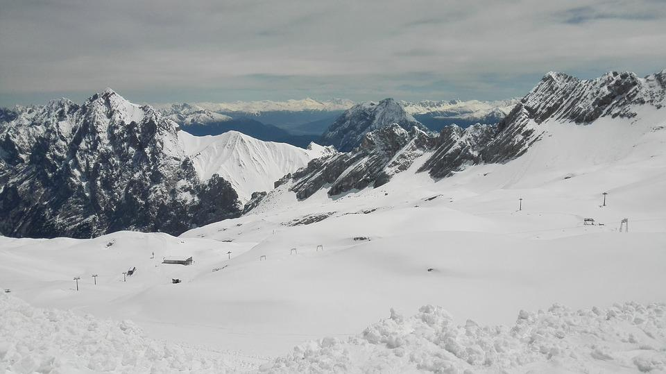 Mountains, South Germany, Zugspitse, Snow