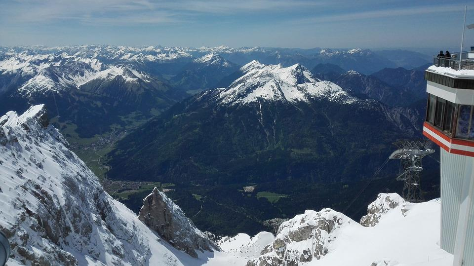 Mountains, South Germany, Snow, Zugspitse
