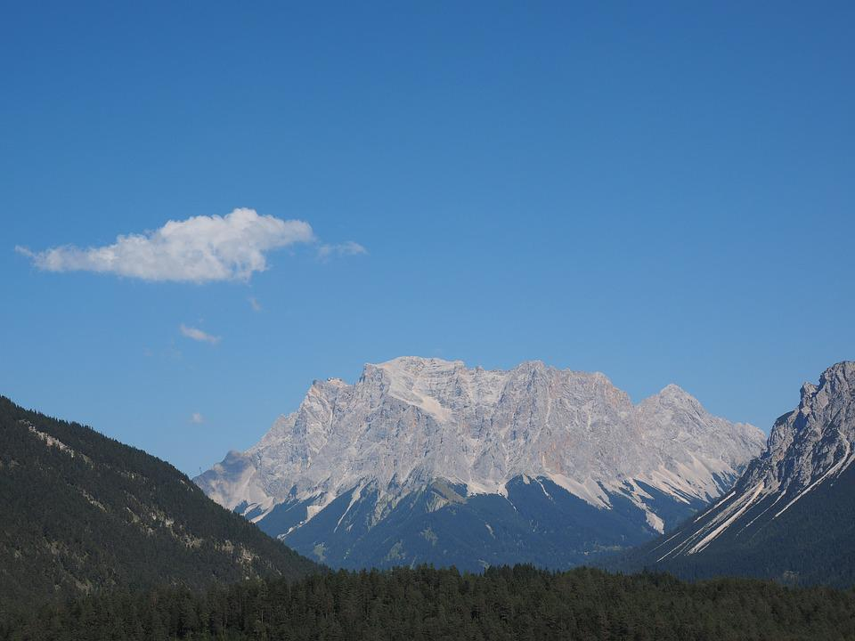 Far Right, Zugspitze, Zugspitze Massif, Mountains