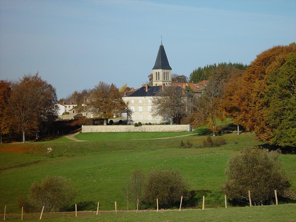 Auvergne, De-dôme, Livradois, échandelys, Village