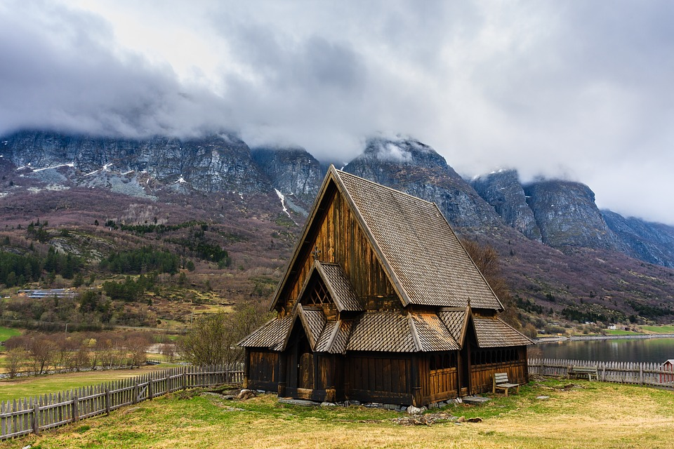 Mountain, Nature, Sky, Landscape, Church, øye