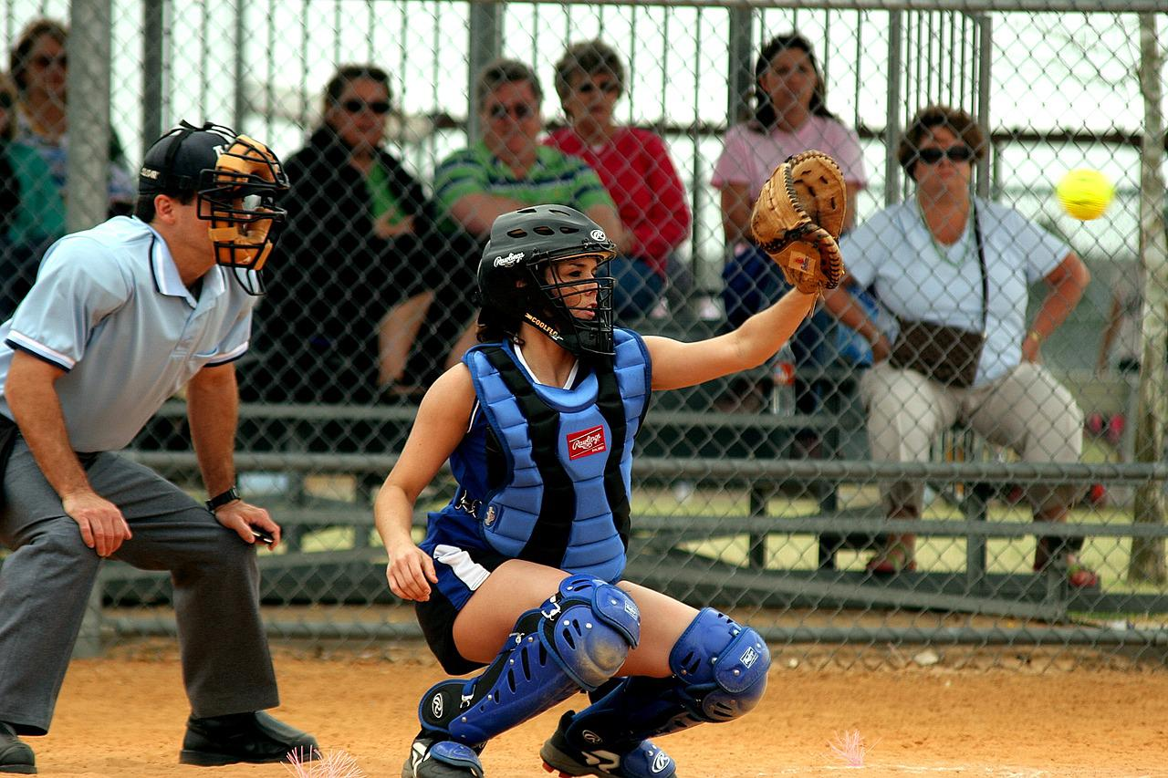 Catcher softball
