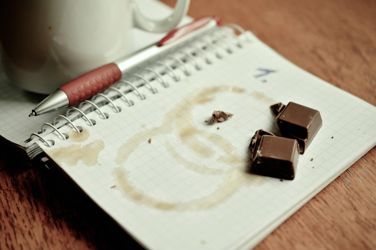 Writing with chocolate