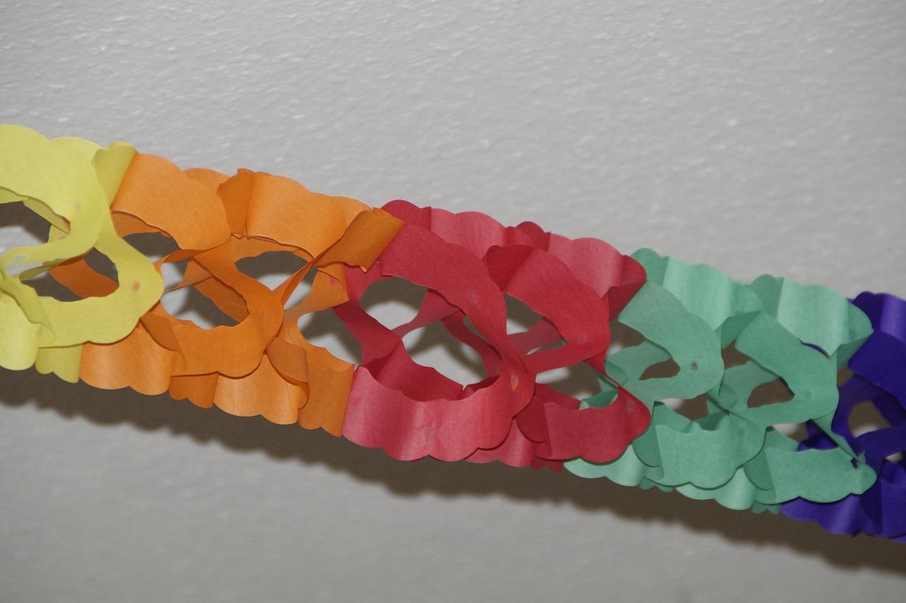 Как сделать гирлянду из бумаги на новый год своими руками