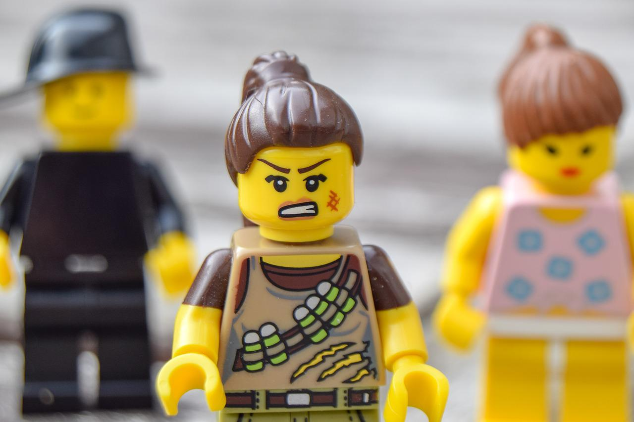 angry lego character