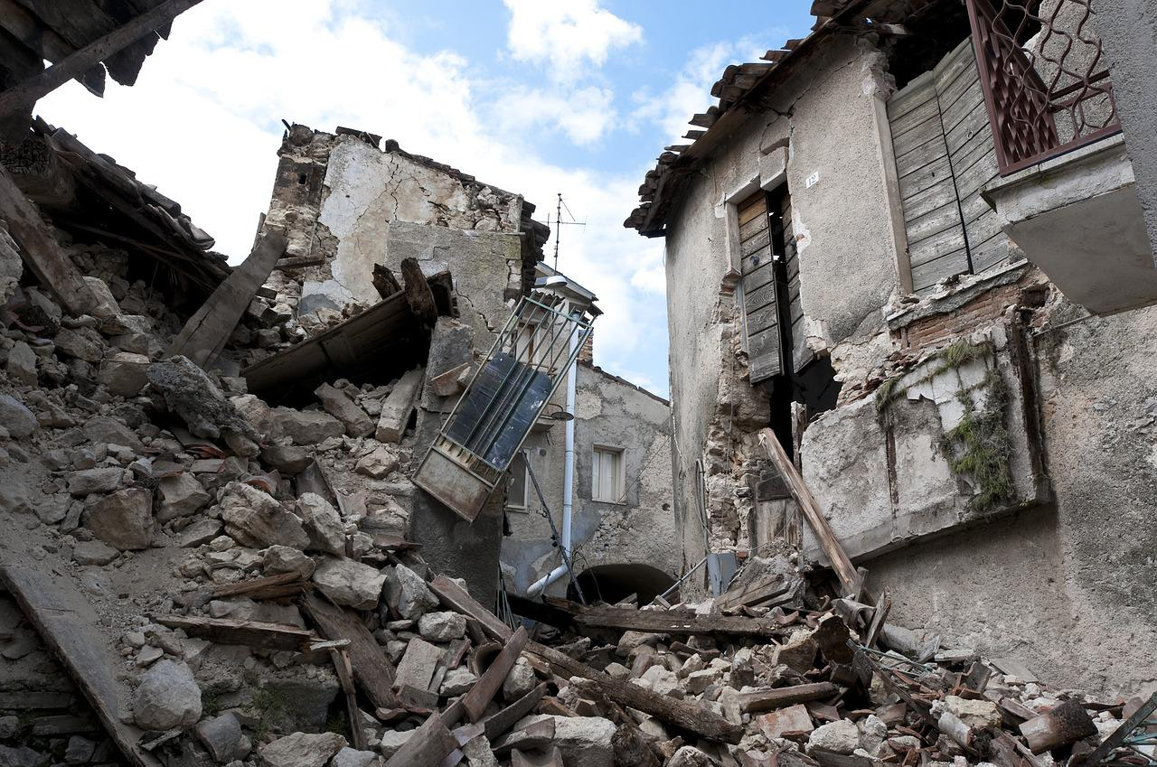 Rubble from Earhquake