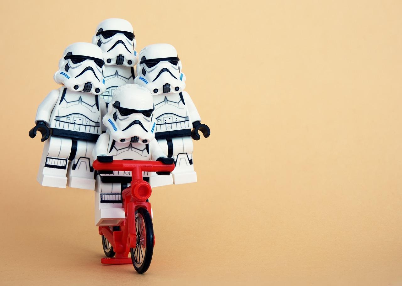 stormtrooper team on bike