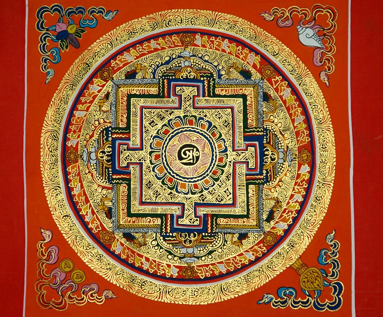 Мандалы тибетские картинки, нем