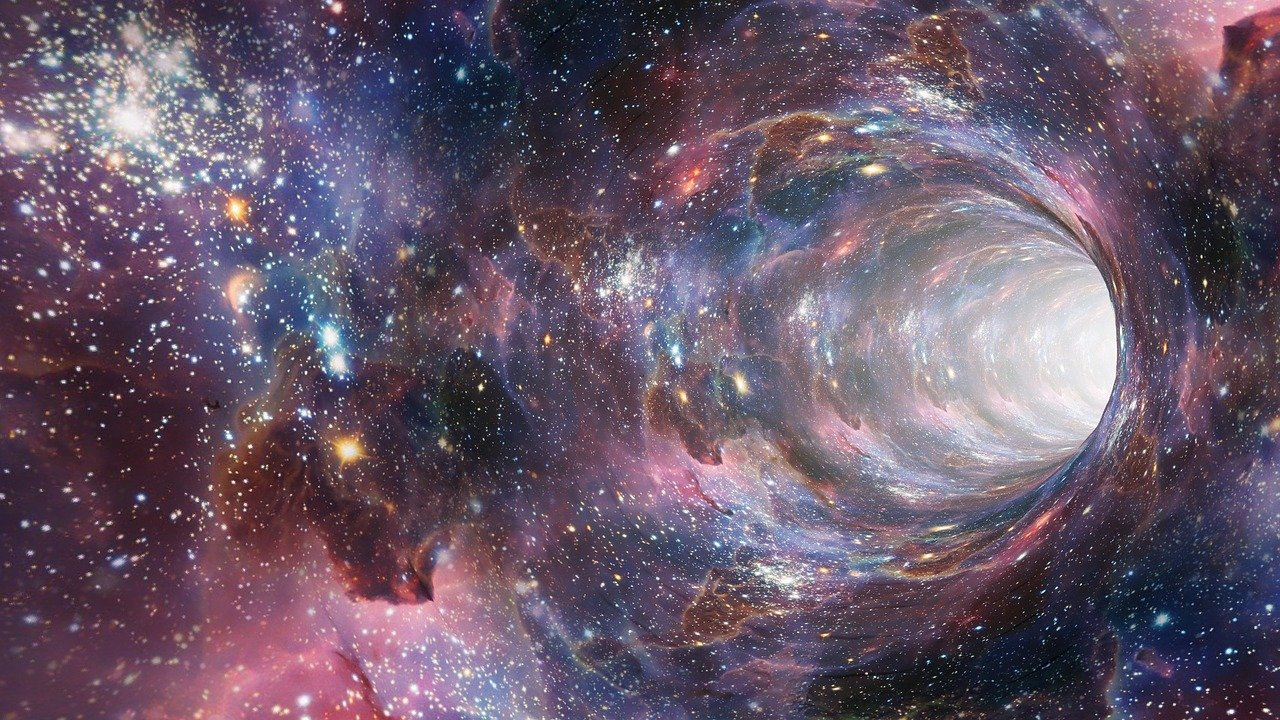 Space warp illustration