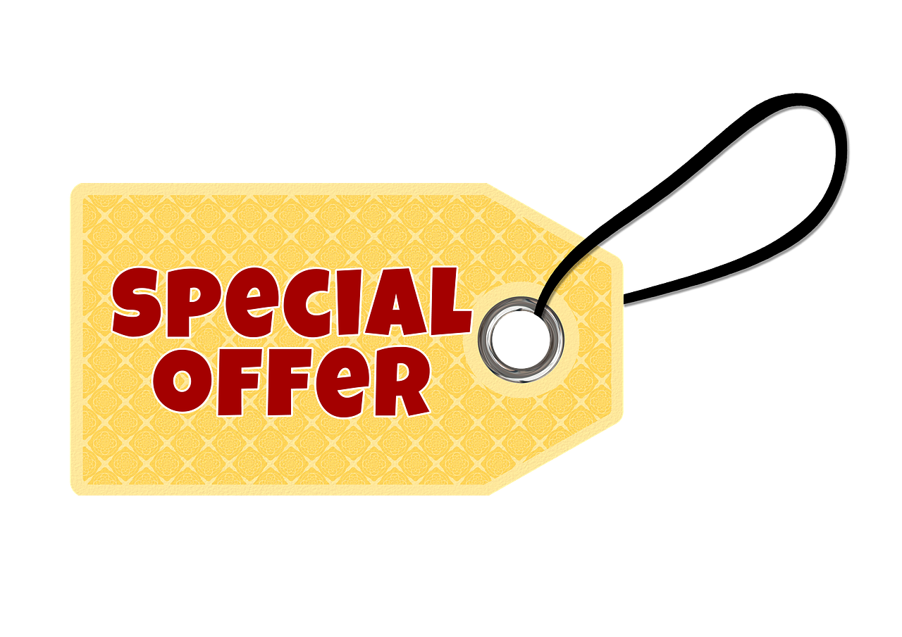 free photo promotion bargain offer up