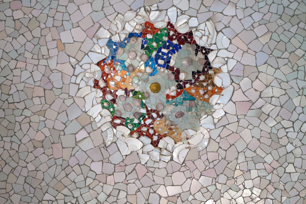 Broken tile mosaic floor image collections to lay mosaic floor free photo tile broken tile park guell mosaic texture gaudi dailygadgetfo Gallery