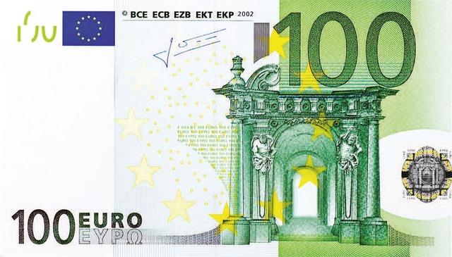 Dollar Bill, 100 Euro, Money, Banknote