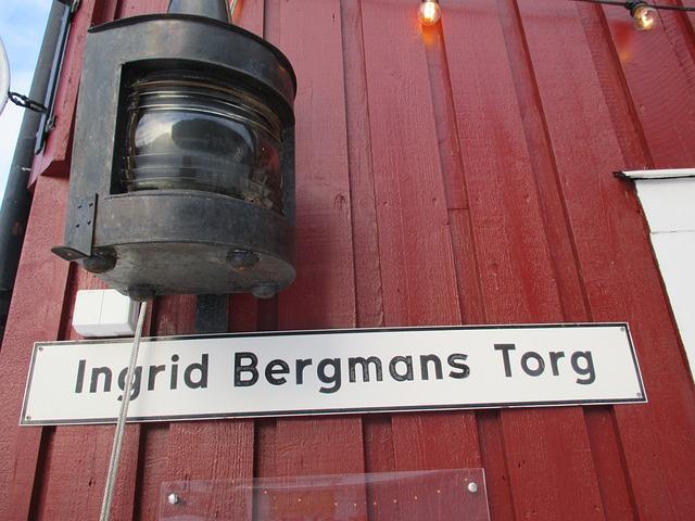 Sign, Ingrid Bergman, 100 Year Celebration, Fjällbacka