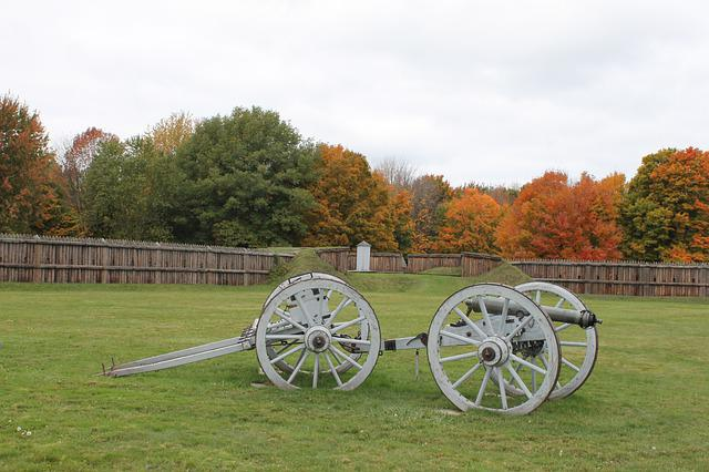 Cannon, History, War, Fort, Canada, Fall, Autumn, 1812