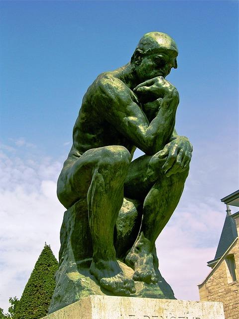 The Thinker, August Rodin, 1881-1882, Bronze