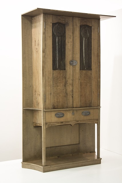 Tall Cabinet, 1898, Charles Rennie Mackintosh, Reliefs