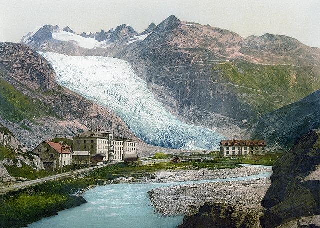 Rhone Glacier, Glacier, 19 Century, Climate Change