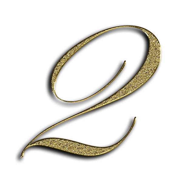 Number, 2, Gold, Font, Training, Two, Learn, Golden