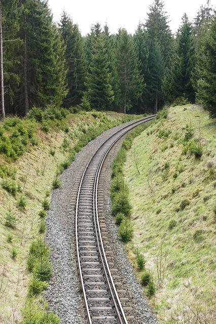 Railway System, Rail, 2 Tracks, Narrow Gauge