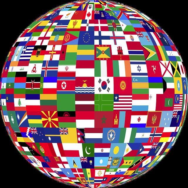 World, Flags, Nations, Three D, 3d, Art, Borders