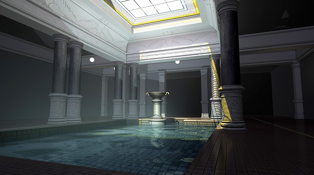 Rendering, 3d, Bad, Cover Windows, Architecture, Spa
