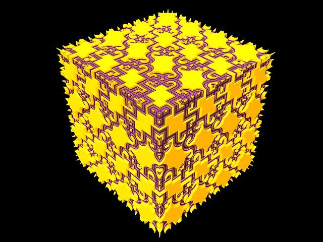 Cube, Render, Geometric, Cubic, Block, 3d