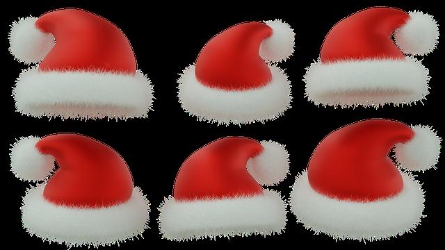 Santa Hat, Christmas, Red Hat, Isolated, 3d, Blender