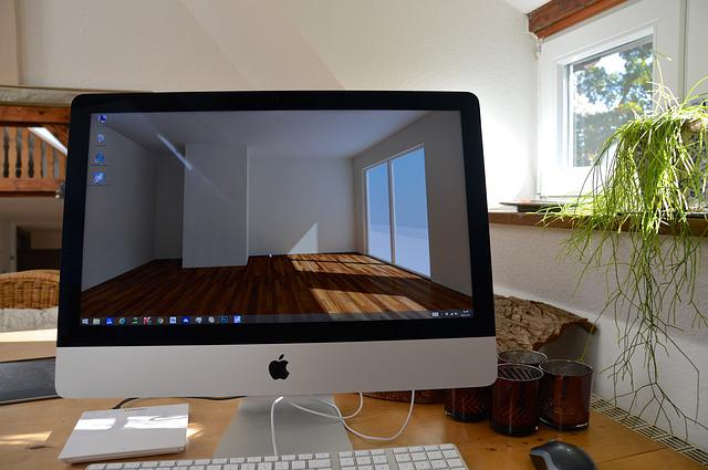 Workplace, Imac, Computer, Desktop, 3d, Visualization