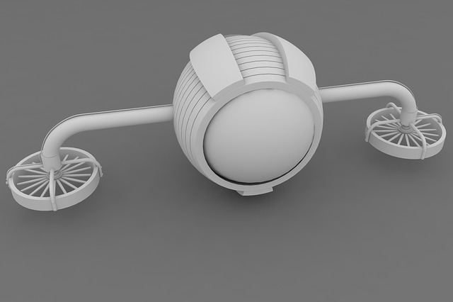 Drone, 3d, Gray