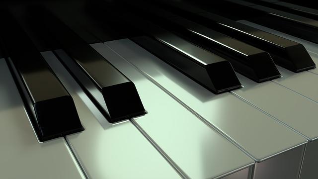 Piano, Keys, Instrument, White, Black, Macro, 3d