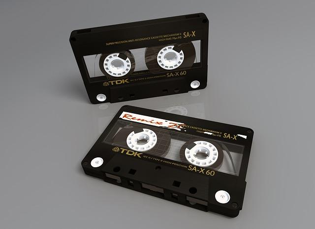 K7, Plastic, Magnetic Tape, Black, Tdk, 3d, Music