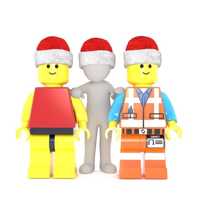 Lego, White Male, 3d Model, Full Body, 3d Santa Hat