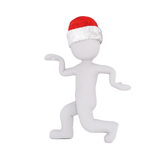 White Male, 3d Model, Fig, White, Christmas, Santa Hat